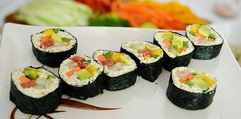 Sushi Vegano e Crudívoro